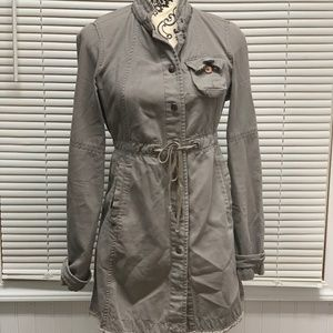 Free People Fitted Canvas Jacket Size 4
